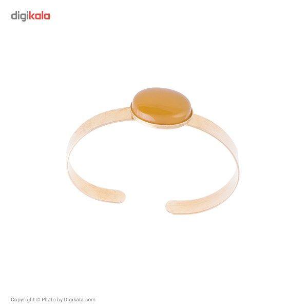 دستبند ناردونه قاب دار برنج زرد -  - 2