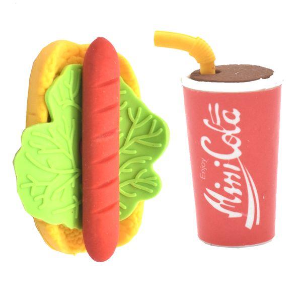 پاکن  مدل Erasers Fast Food بسته 2 عددی