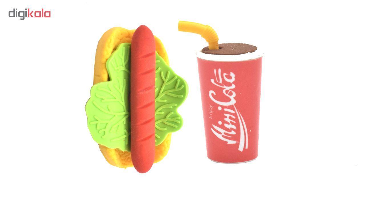 پاکن  مدل Erasers Fast Food بسته 2 عددی  main 1 1
