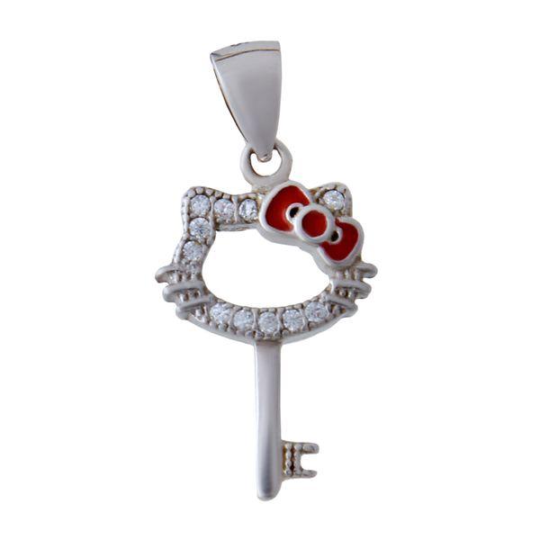 آویز گردنبند نقره زنانه بازرگانی میلادی کد PKR-128 غیر اصل