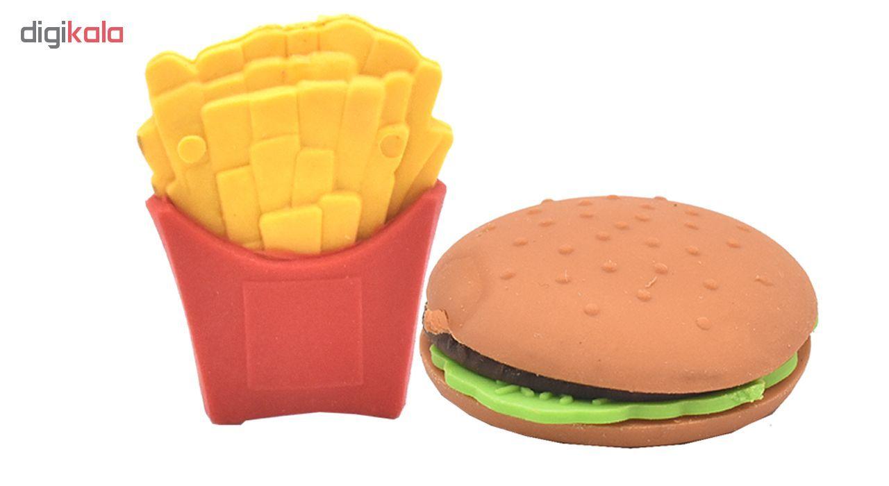 پاکن  مدل 2 Erasers Fast Food بسته 2 عددی  main 1 1