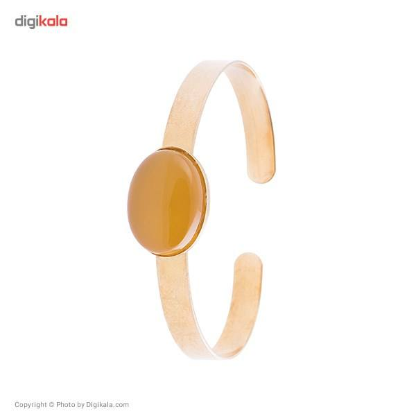 دستبند ناردونه قاب دار برنج زرد -  - 1
