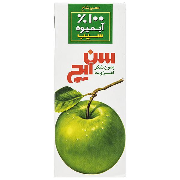 آبمیوه سیب سن ایچ مقدار 200 میلی لیتر