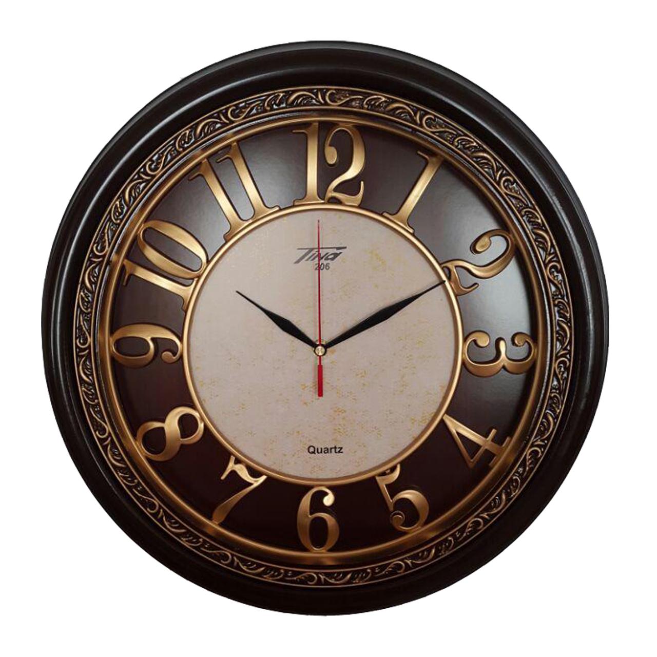 خرید ساعت دیواری تینا مدل 206 به همراه هدیه سرسوئیچی ویکتوریا