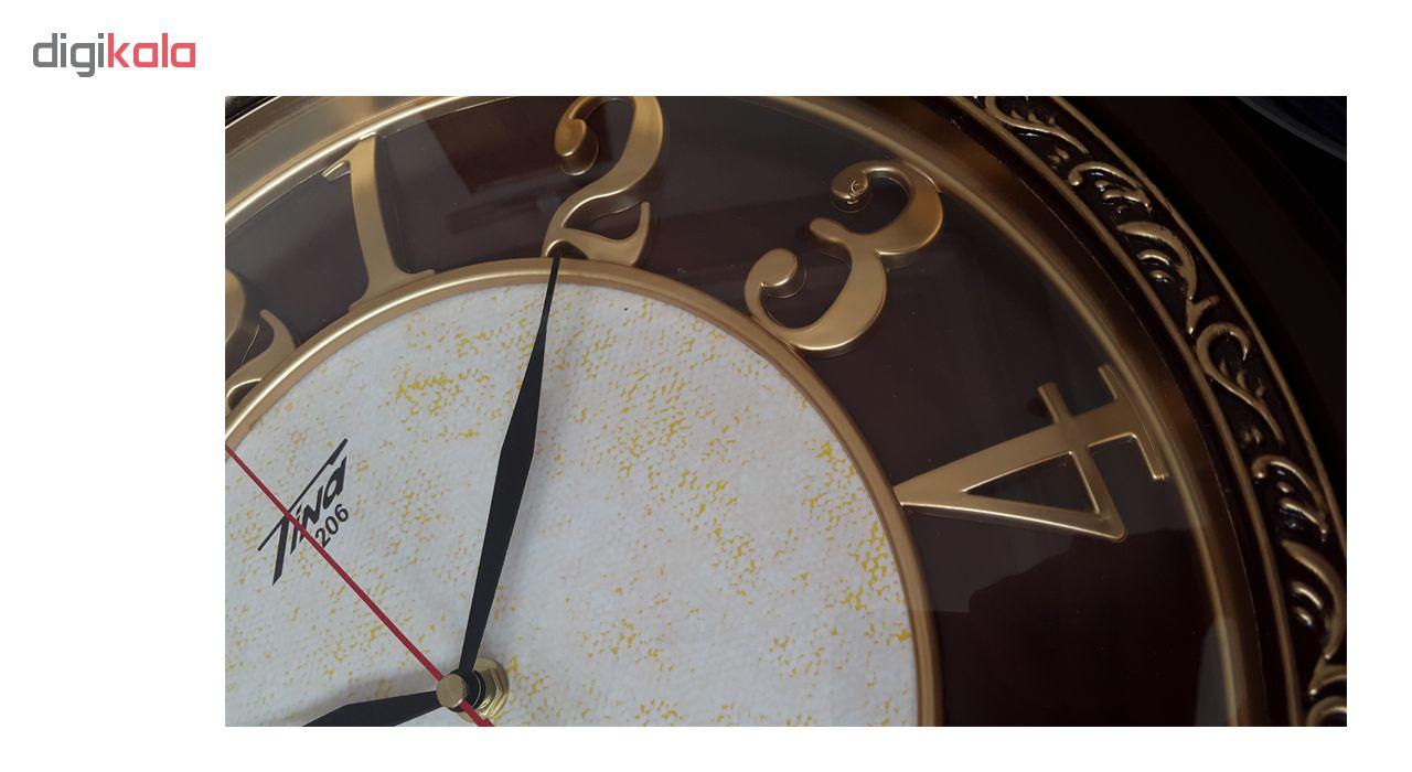 ساعت دیواری تینا مدل 206 به همراه هدیه سرسوئیچی ویکتوریا
