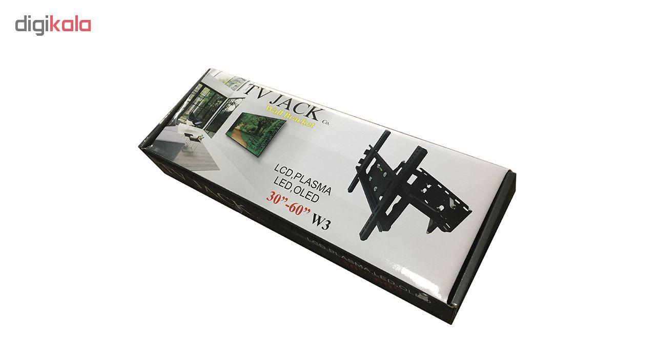 پایه دیواری تلویزیون تی وی جک مدل W3 مناسب برای تلوزیون 30 تا 65 اینچ main 1 12