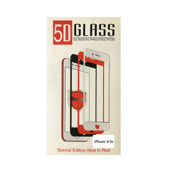 محافظ صفحه نمایش شیشه ای مدل 5D مناسب برای گوشی موبایل آیفون 6/6s