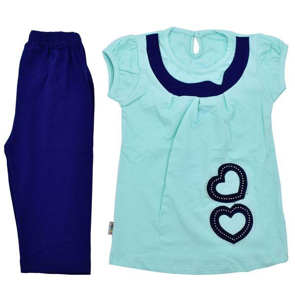 ست تی شرت و شلوارک دخترانه پانیذ مدل T117-1
