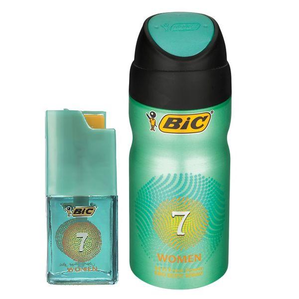 اسپری زنانه بیک مدل 7 حجم 150 میلی لیتر به همراه عطر جیبی زنانه بیک مدل 7 حجم 7 میلی لیتر