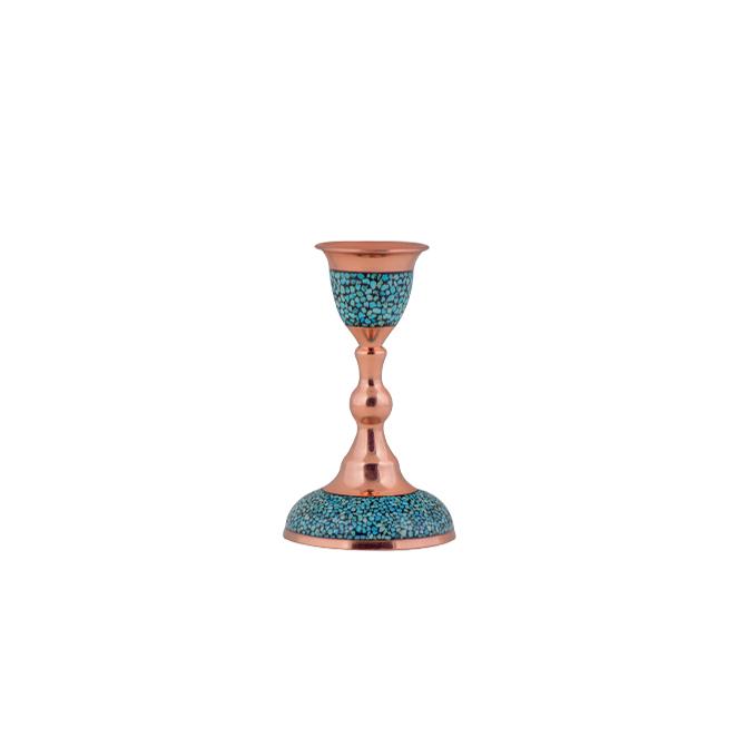 شمعدان فیروزه کوبی آقاجانی کد F026