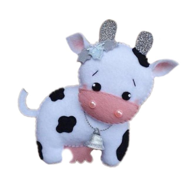 عروسک طرح گاو مدل 076 ارتفاع 15 سانتی متر