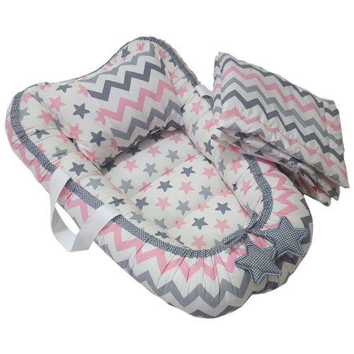 سرویس 3 تکه خواب نوزادی طرح ستاره و زیگزاگ Aszpink001