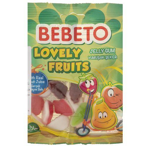 پاستیل ببتو مدل Lovely Fruits مقدار 80 گرم