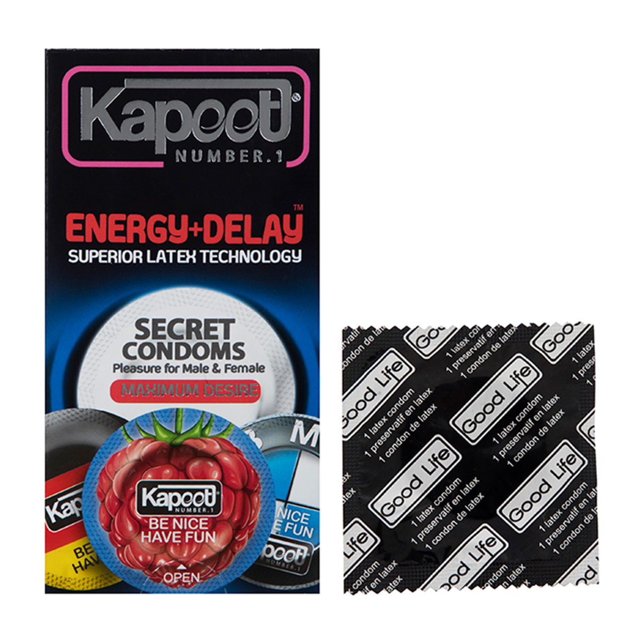 قیمت کاندوم خاردار کاپوت مدل Energy بسته 12 عددی به همراه یک عدد کاندوم Good Life