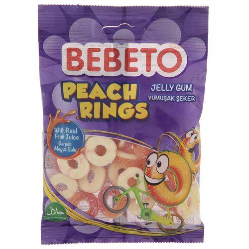 پاستیل ببتو مدل Peach Rings مقدار 80 گرم
