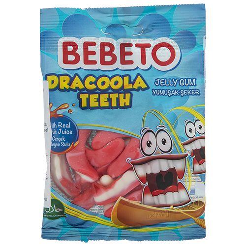 پاستیل ببتو مدل Dracoola Teeth مقدار 80 گرم