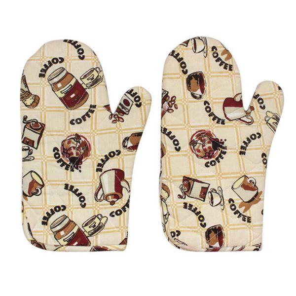 دستکش فر مدل D-coffee بسته دو عددی