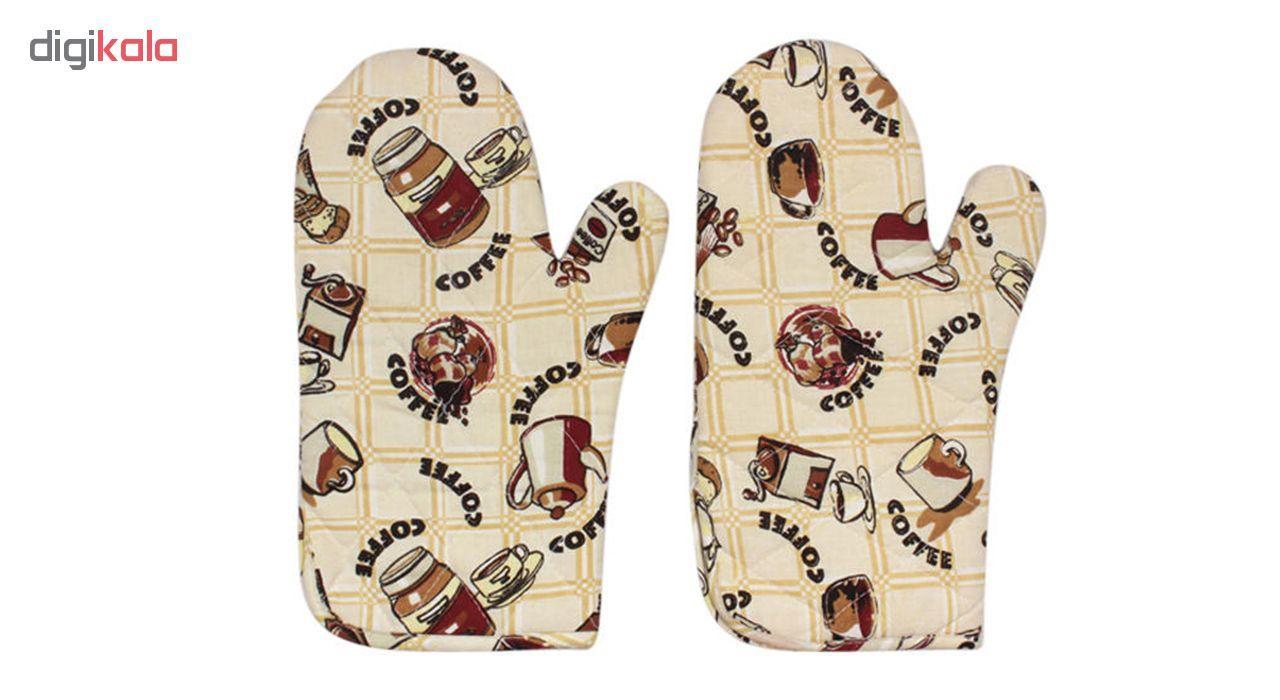 دستکش فر مدل D-coffee بسته دو عددی main 1 1