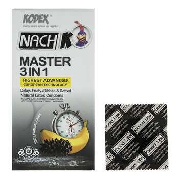 کاندوم کدکس مدل Master بسته 12 عددی به همراه یک عدد کاندوم Good Life