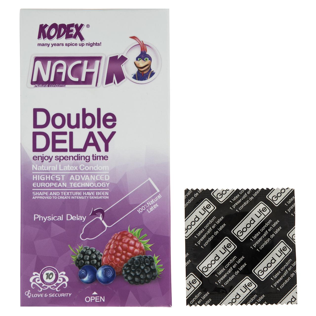 کاندوم کدکس مدل Double Delay بسته 10 عددی به همراه یک عدد کاندوم Good Life