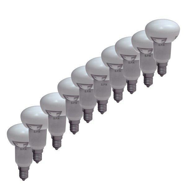 لامپ ال ای دی 10وات اس پی ان مدل حبابی R63  پایه E27 بسته 10 عددی