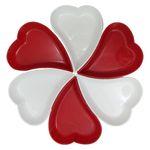 اردور خوری پلی نیک طرح قلب مجموعه ۶ عددی thumb