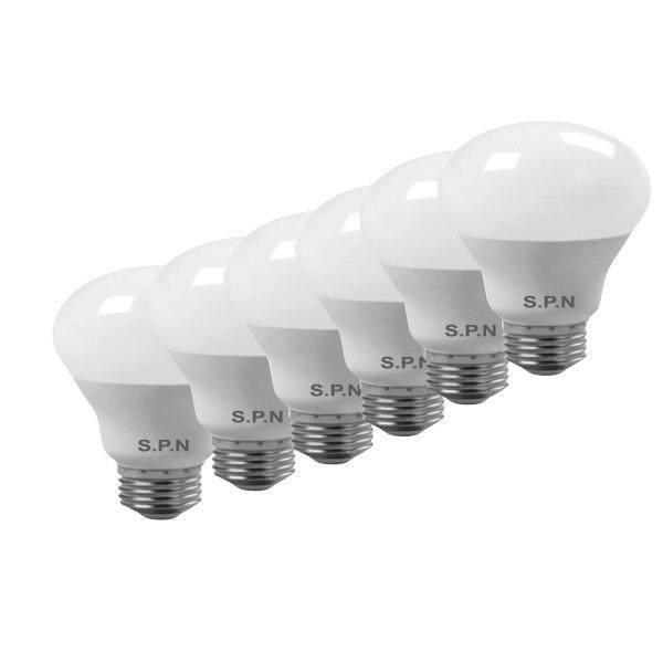 لامپ ال ای دی هوشمند 9 وات اس پی ان مدل حبابی پایه E27 بسته 6 عددی