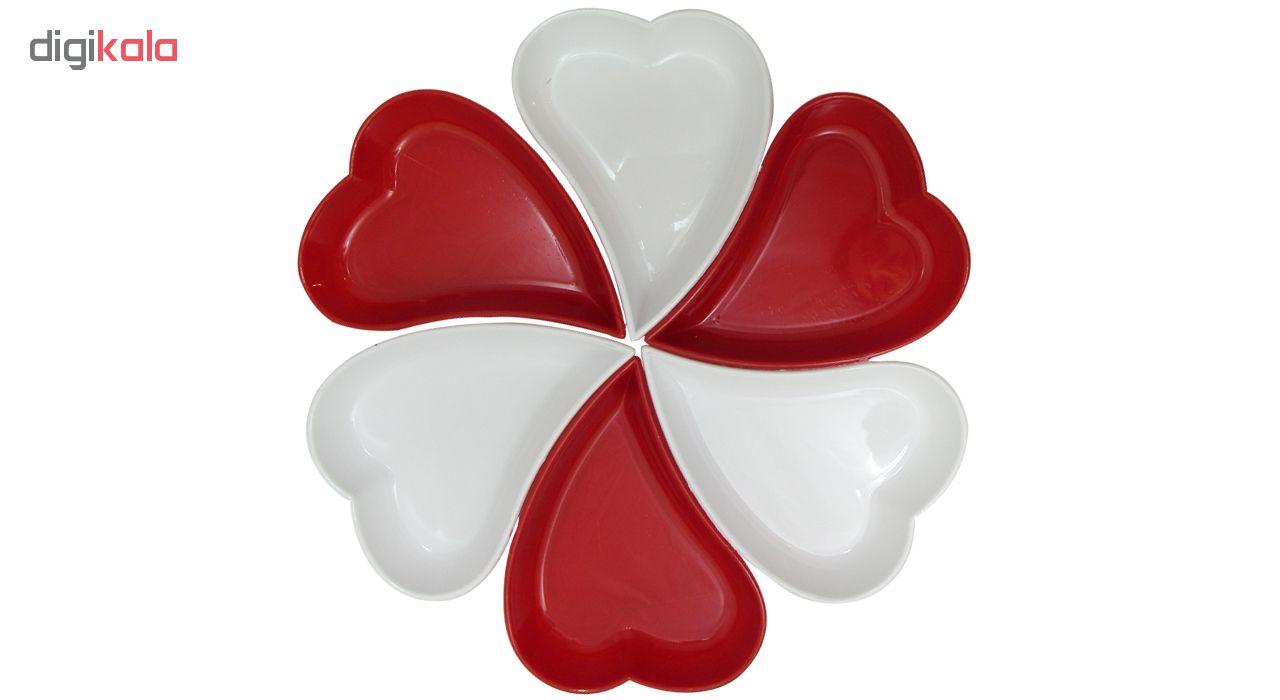اردور خوری پلی نیک طرح قلب مجموعه ۶ عددی main 1 1