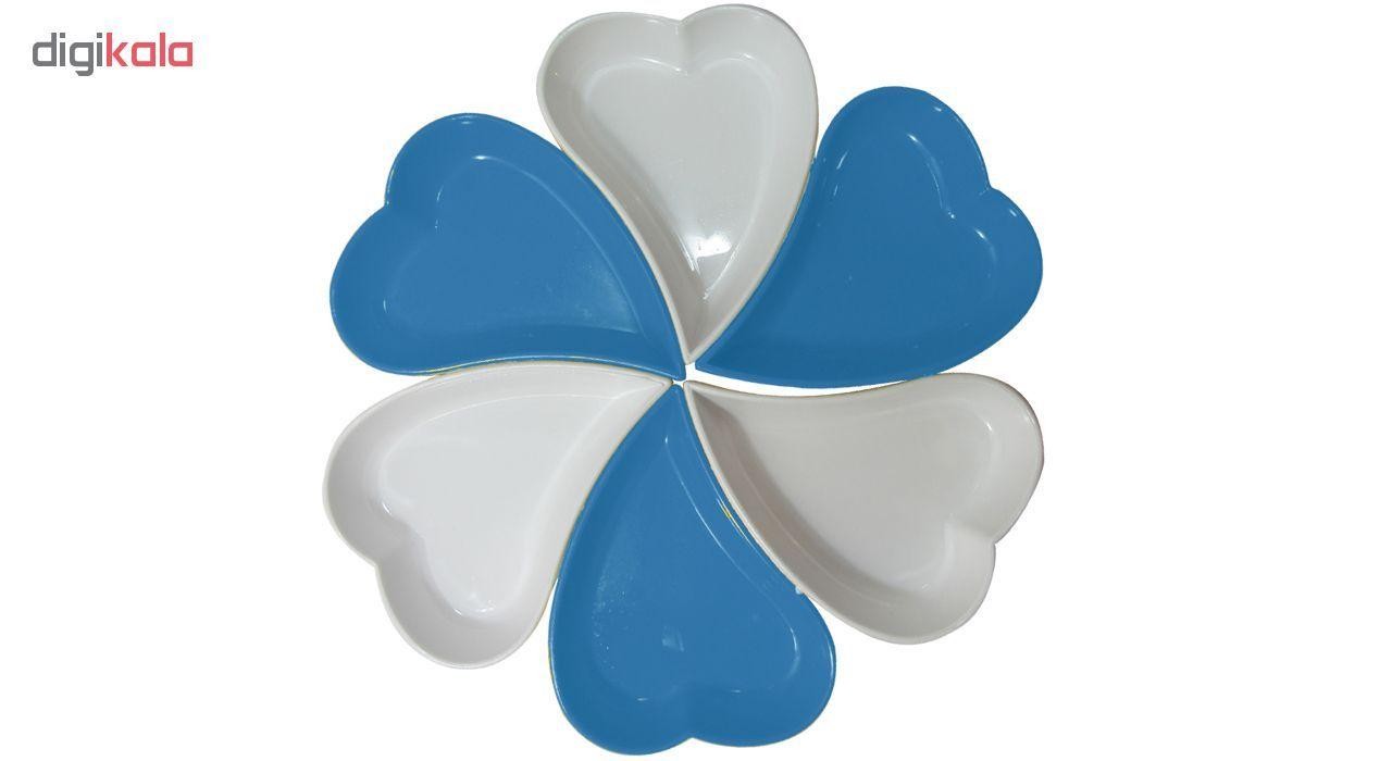اردور خوری پلی نیک طرح قلب مجموعه ۶ عددی main 1 4