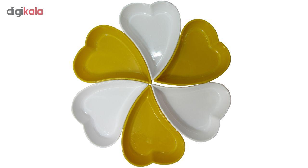 اردور خوری پلی نیک طرح قلب مجموعه ۶ عددی main 1 5