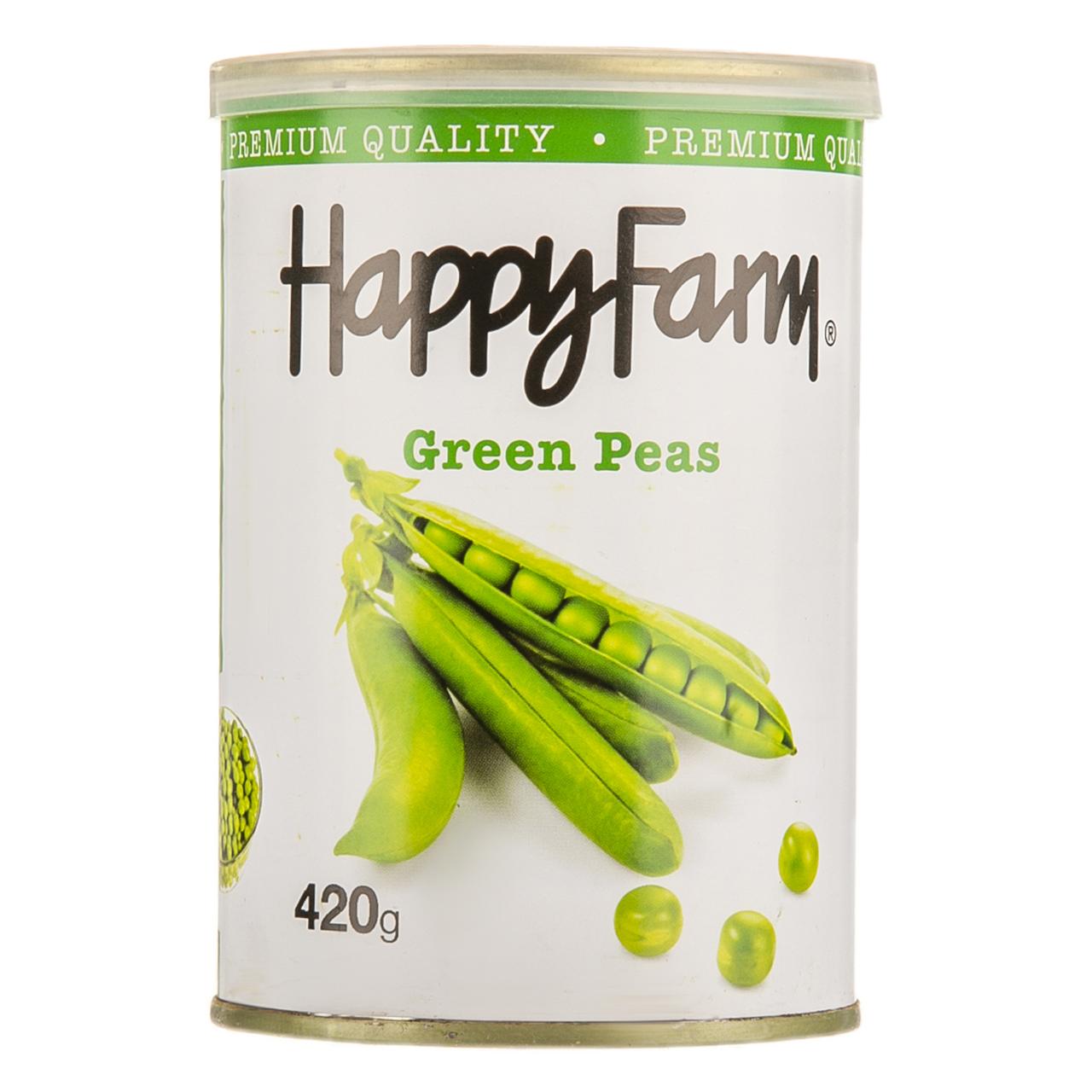کنسرو نخود سبز هپی فارم - 400 گرم