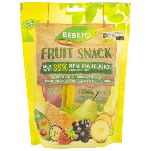 پاستیل ببتو مدل Fruit Snack مقدار 143گرم
