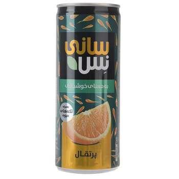نوشیدنی بدون گاز پرتقال همراه با تکه های میوه سانی نس حجم 240 میلی لیتر