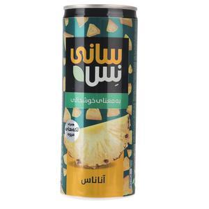 نوشیدنی بدون گاز آناناس همراه با تکه های میوه سانی نس حجم 240 میلی لیتر