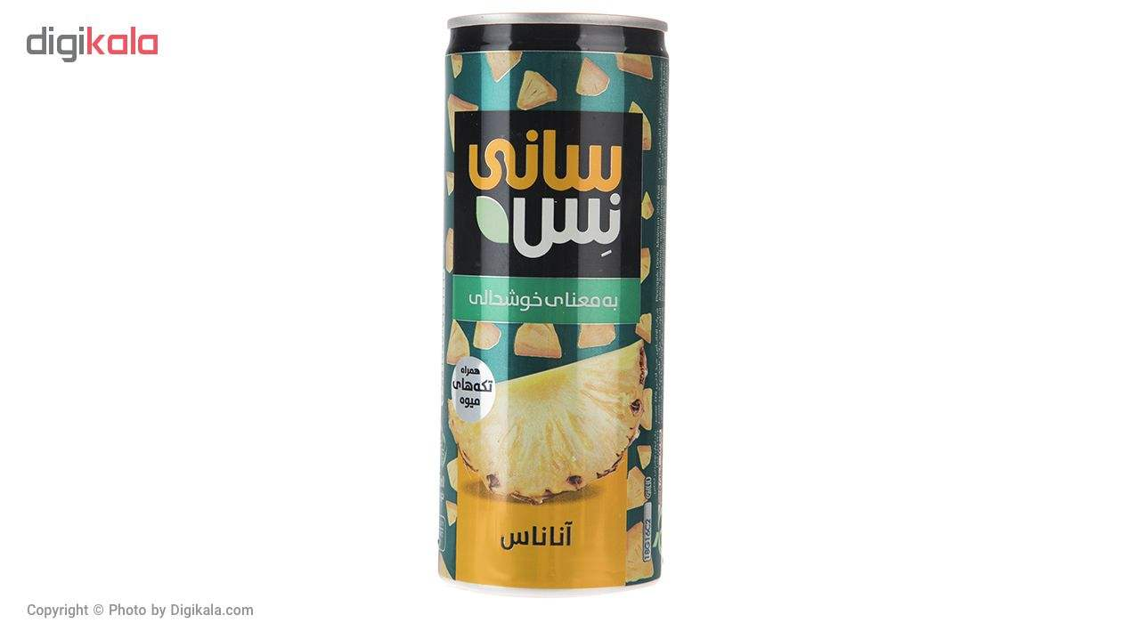 نوشیدنی بدون گاز آناناس همراه با تکه های میوه سانی نس حجم 240 میلی لیتر main 1 1