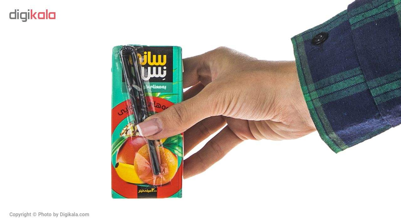 نوشیدنی بدون گاز میوه های استوایی سانی نس حجم 200 میلی لیتر main 1 4