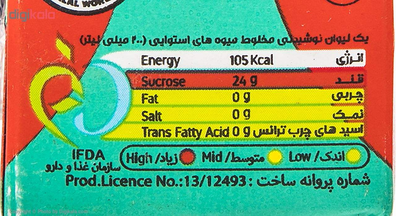 نوشیدنی بدون گاز میوه های استوایی سانی نس حجم 200 میلی لیتر main 1 3