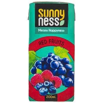 نوشیدنی بدون گاز مخلوط میوه های قرمز سانی نس حجم 200 میلی لیتر