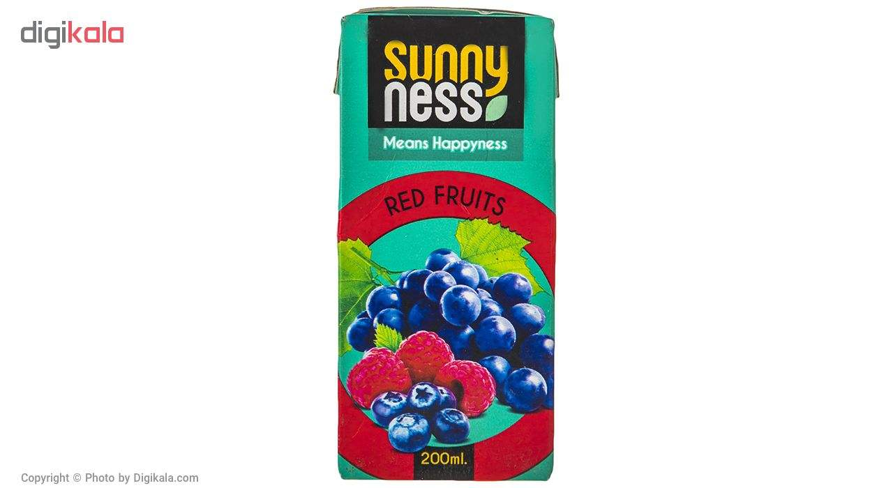 نوشیدنی بدون گاز مخلوط میوه های قرمز سانی نس حجم 200 میلی لیتر main 1 1