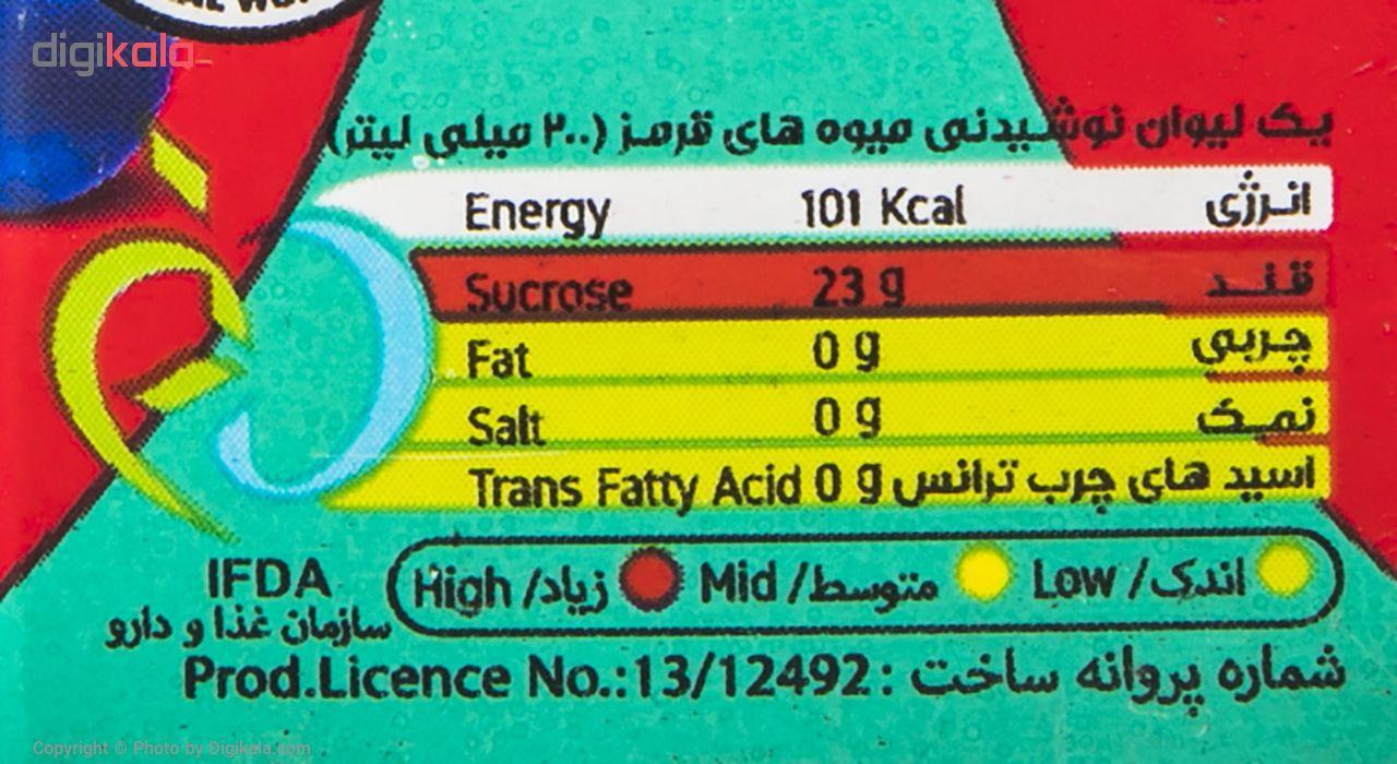 نوشیدنی بدون گاز مخلوط میوه های قرمز سانی نس حجم 200 میلی لیتر main 1 3