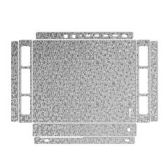 برچسب پوششی ماهوت مدل Silver Silicon Texture مناسب کنسول بازی Xbox One X