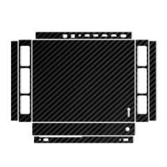 برچسب ماهوت مدل Black Carbon-fiber Texture مناسب برای کنسول بازی Xbox One X