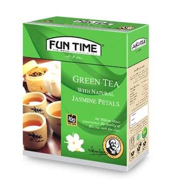 چای سبز کیسه ای فان تایم مدل گل یاس بسته 100 عددی