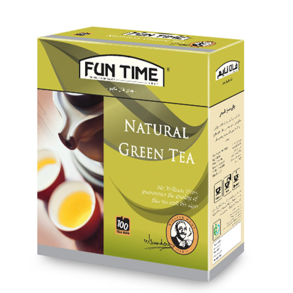 چای سبز کیسه ای فان تایم مدل طبیعی بسته 100 عددی