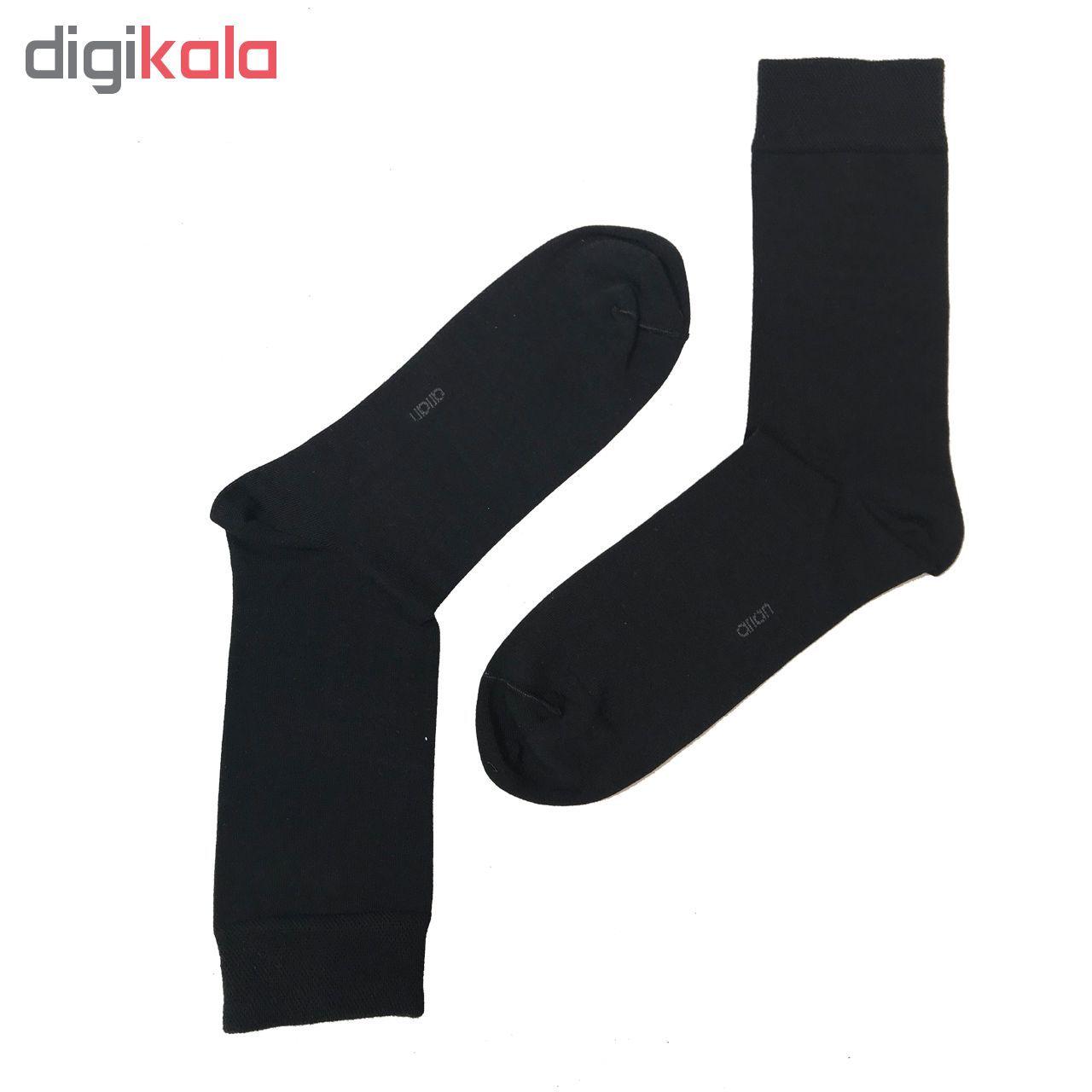 جوراب مردانه مشکی آریان نخ باف کد 51217 بسته 6 عددی پنجه گیری شده main 1 2