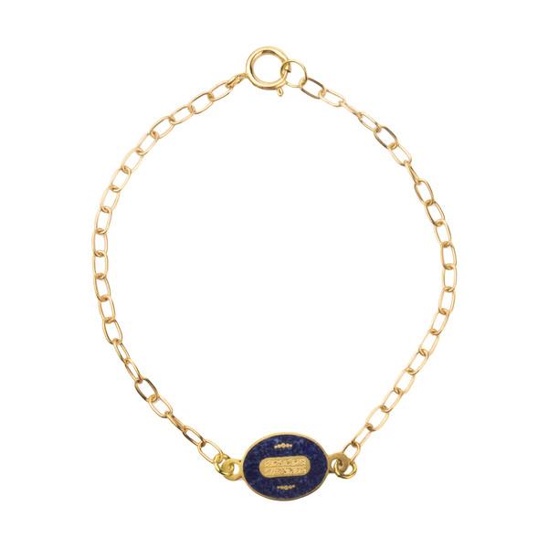دستبند طلا 18 عیار دخترانه کانیارگالری کد DE2