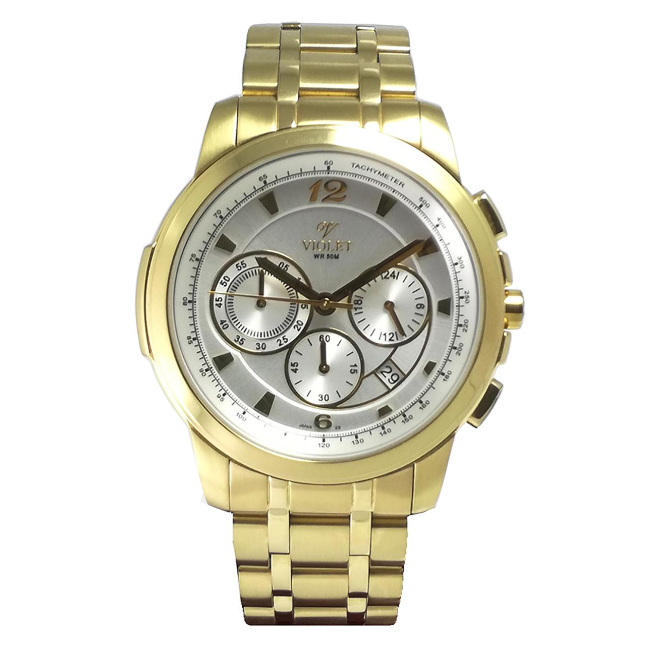 ساعت مچی عقربه ای مردانه  ویولت مدل 0163G-2METAL