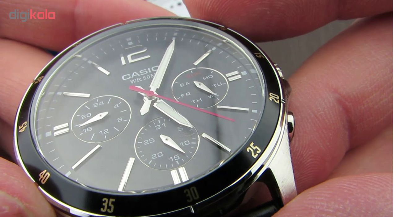 ساعت مچی عقربه ای مردانه کاسیو مدل MTP-1374L-1AVDF