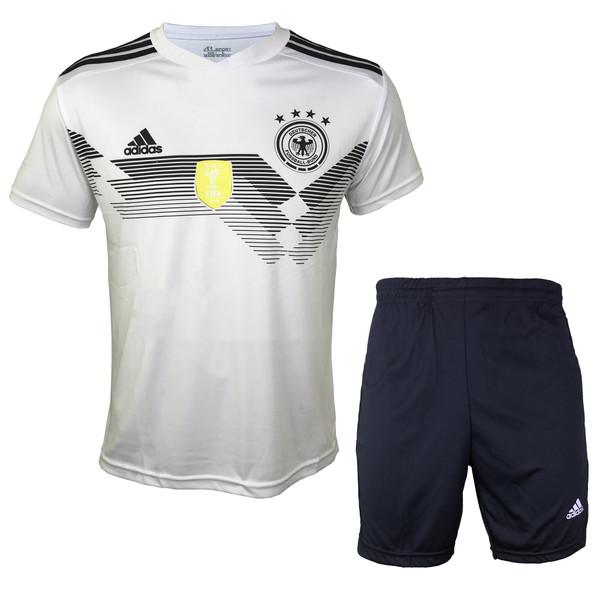 ست پیراهن و شورت ورزشی مردانه ای آر اسپورت طرح تیم ملی آلمان مدل مولر کد 01