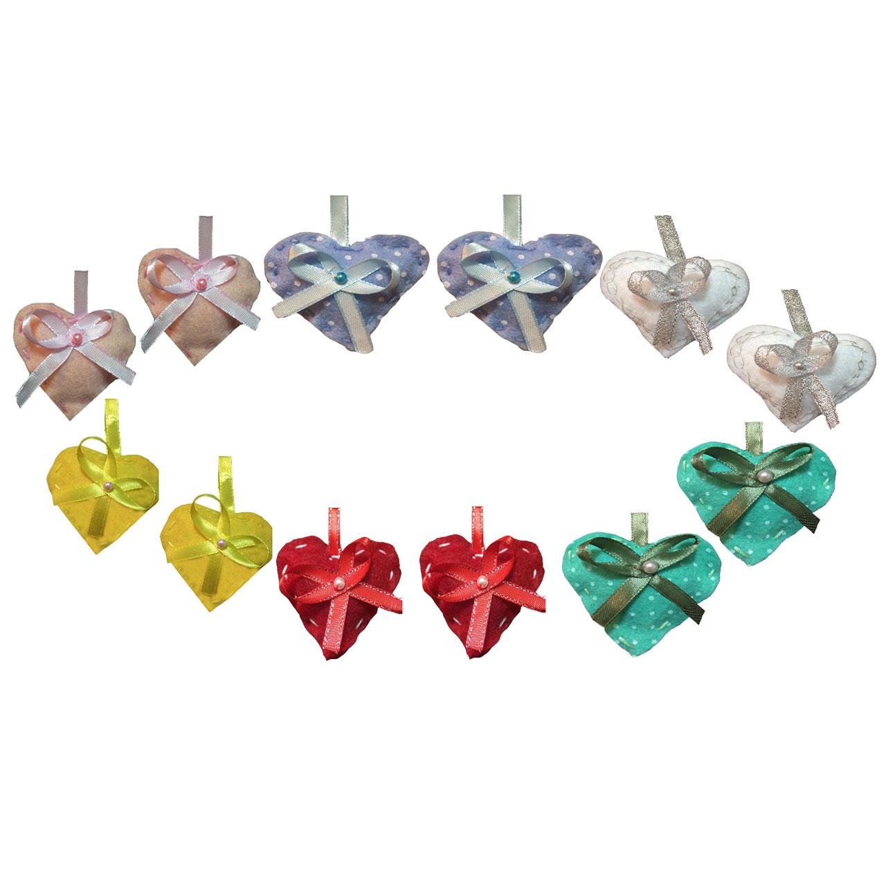 عکس گیفت تولد طرح قلب های رنگارنگ بسته 12 عددی